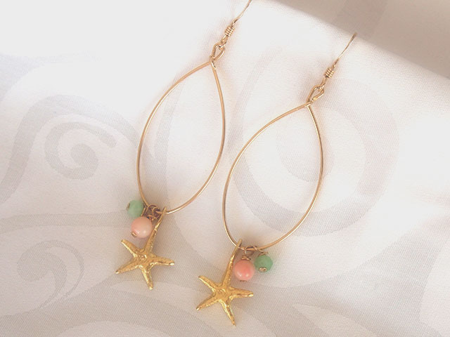 ピアス Star Fish全体
